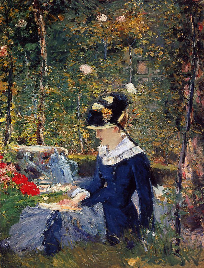Young Woman in the Garden - Édouard Manet