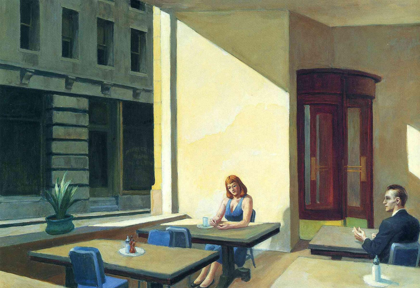 Sunlights in Cafeteria - Edward Hopper