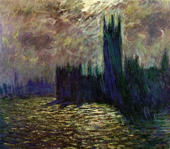 Houses of Parliament, London - Claude Monet