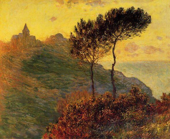 The Church at Varengeville, against the Sunset - Claude Monet