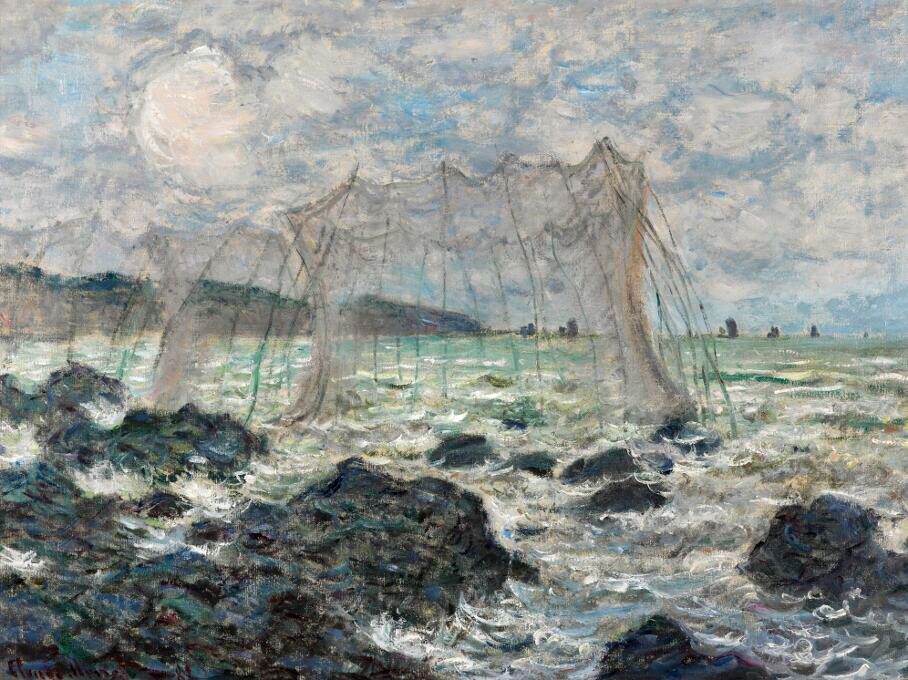 Fishing Nets At Pourville - Claude Monet