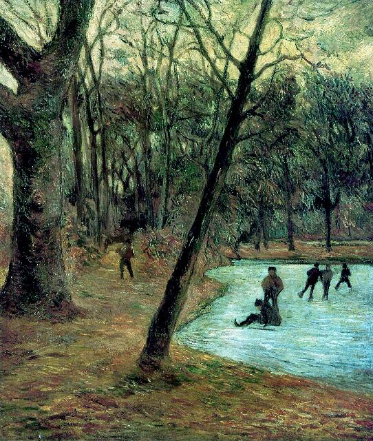 Skaters in Fredericksberg Park - Paul Gauguin