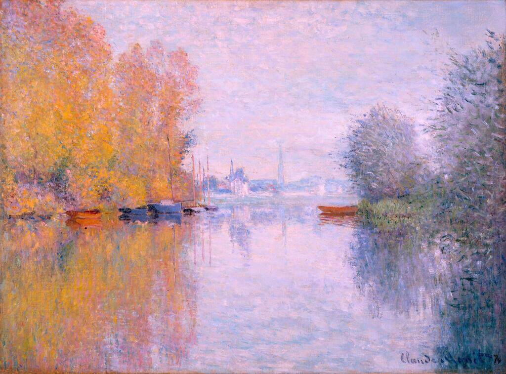 Autumn On The Seine At Argenteuil - Claude Monet
