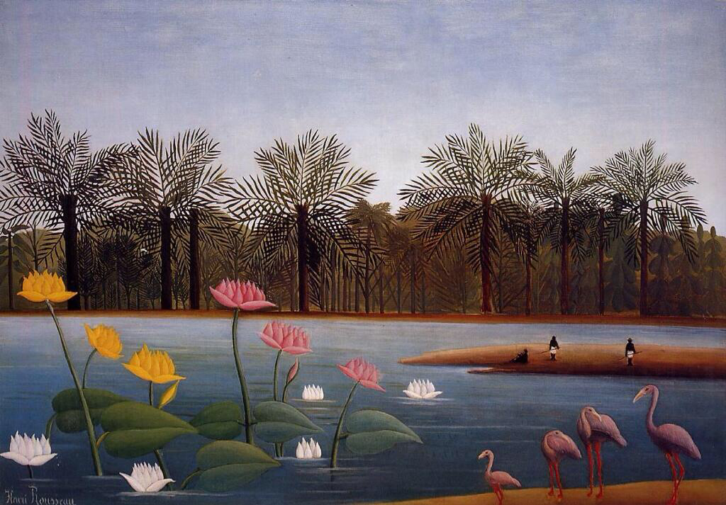 The Flamingoes - Henri Rousseau