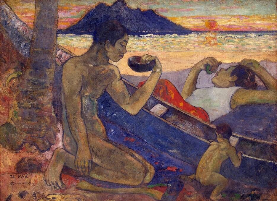Canoe, Tahitian Family - Paul Gauguin