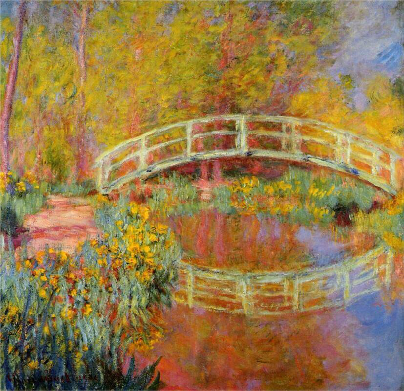 The Japanese Bridge - Claude Monet