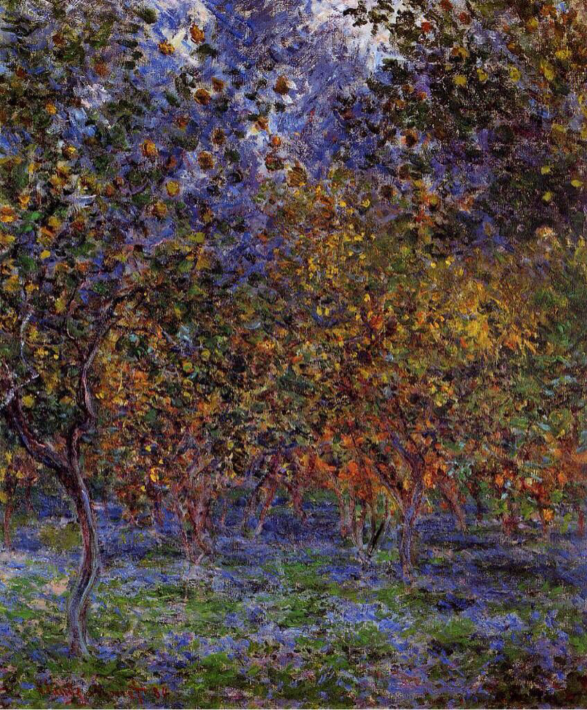 Under the Lemon Trees - Claude Monet