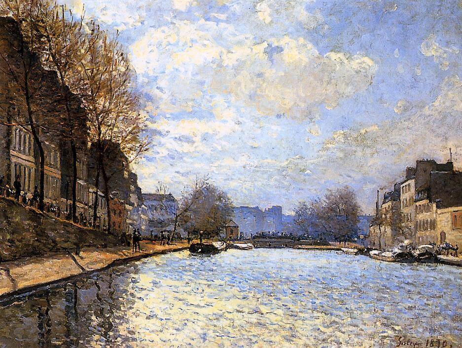 View of the Canal St. Martin - Alfred Sisley
