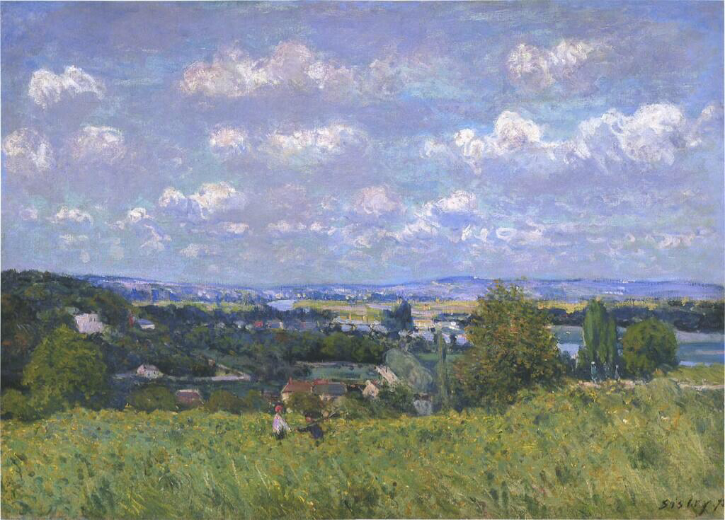 Valley of the Seine at Saint-Cloud - Alfred Sisley