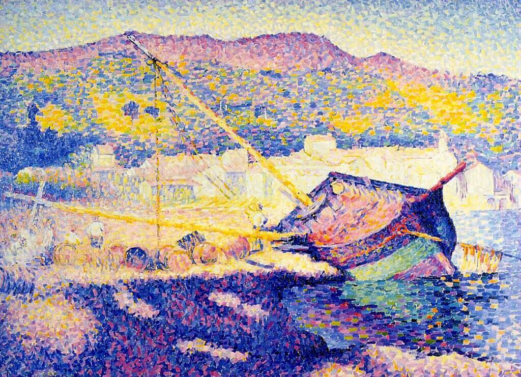 The Blue Boat - Henri-Edmond Cross