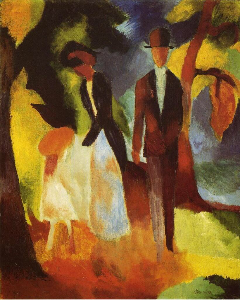 People by the Lake - August Macke
