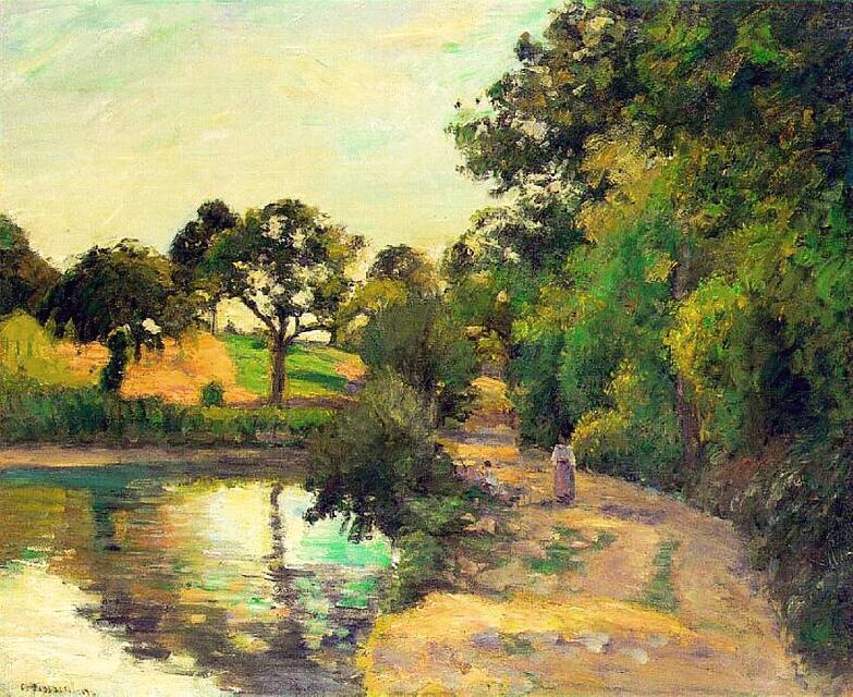Bridge at Montfoucault - Camille Pissarro