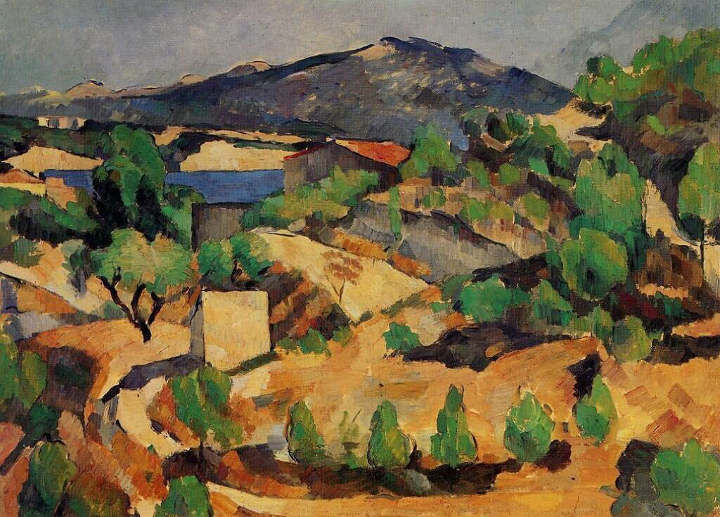 Mountains Seen from L'Estaque - Paul Cézanne