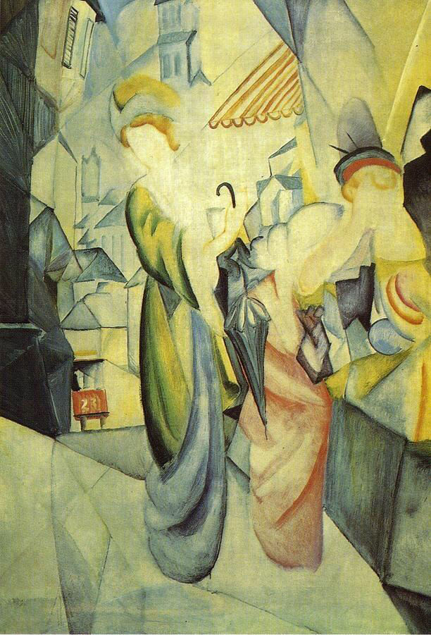 Bright Women in front of the Hat Shop - August Macke