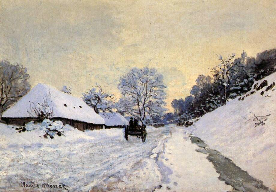 The Cart - Claude Monet