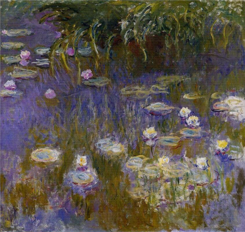 Water Lilies, Yellow and Lilac - Claude Monet