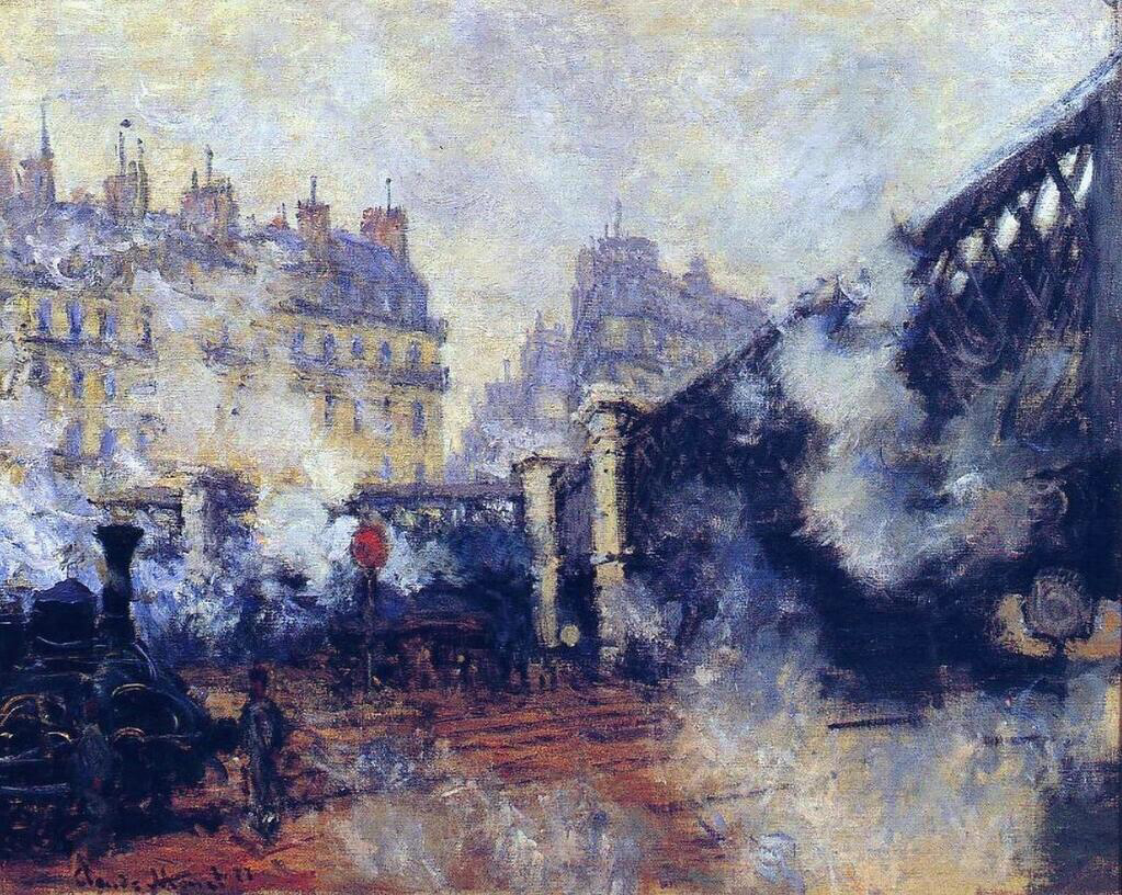 The Pont de l'Europe, Gare Saint-Lazare - Claude Monet