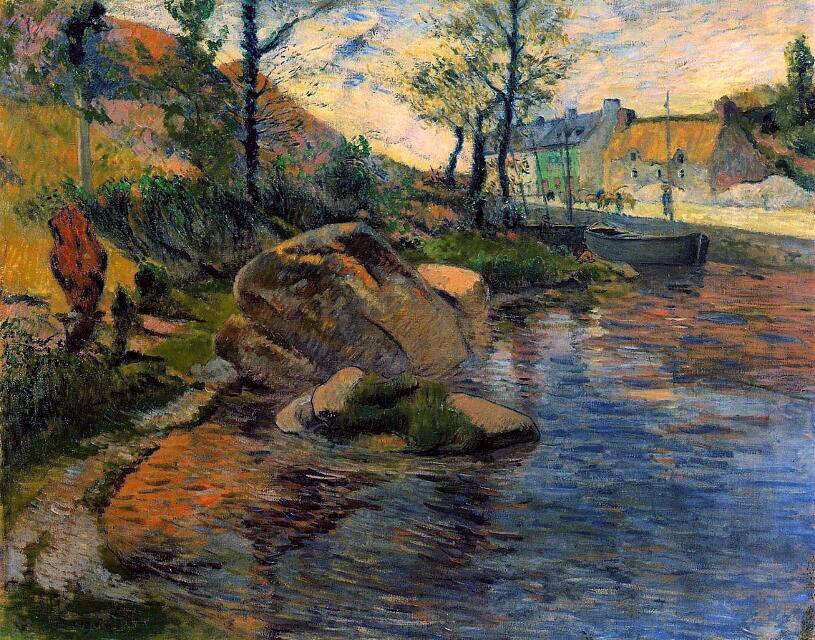 Cove opposite Pont-Aven Harbor - Paul Gauguin
