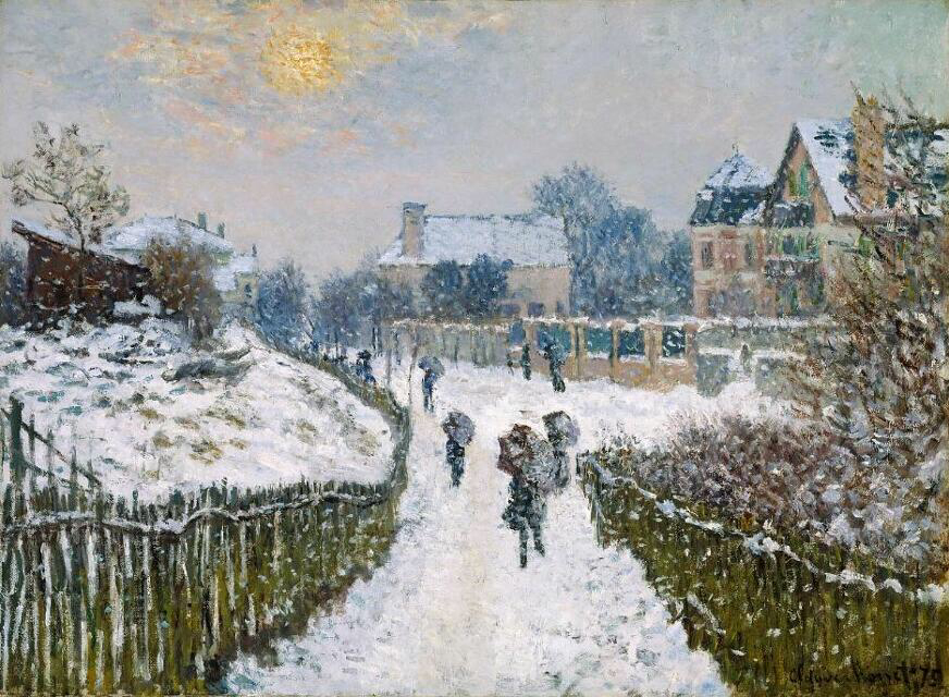 Boulevard Saint-Denis, Argenteuil, in Winter - Claude Monet
