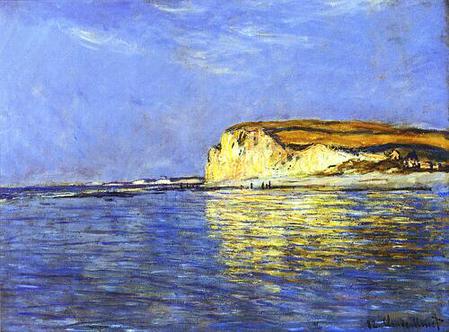 Low Tide at Pourville - Claude Monet