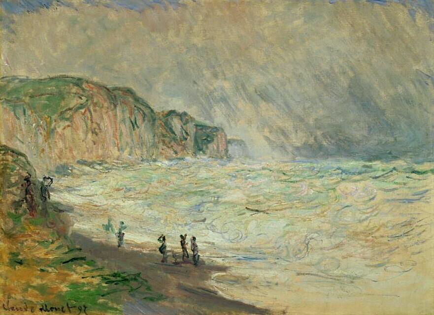 Heavy Sea at Pourville - Claude Monet