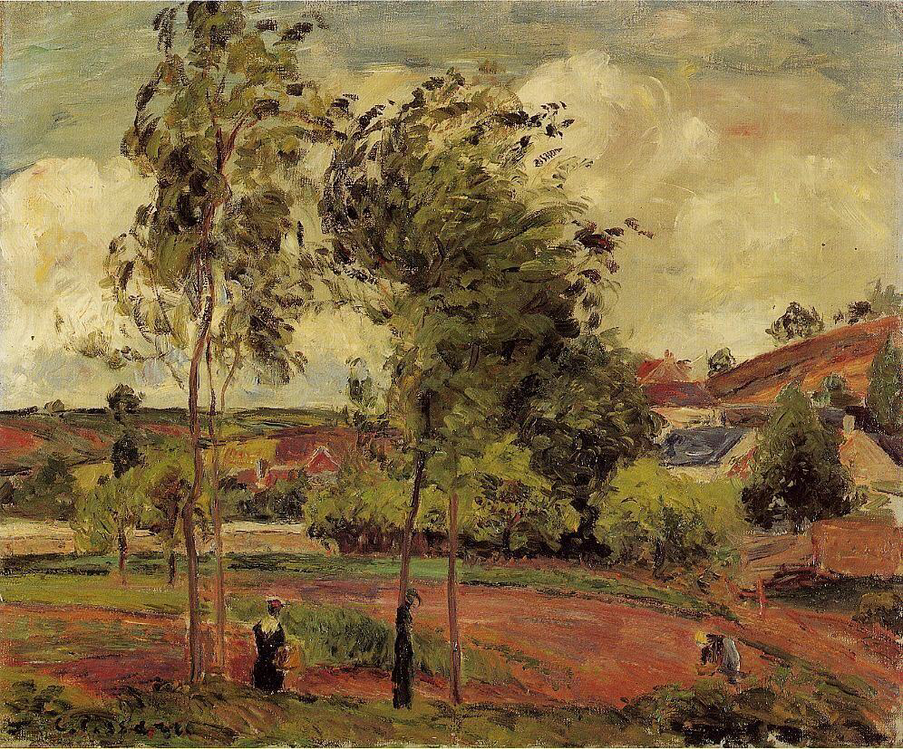 Strong Winds, Pontoise - Camille Pissarro
