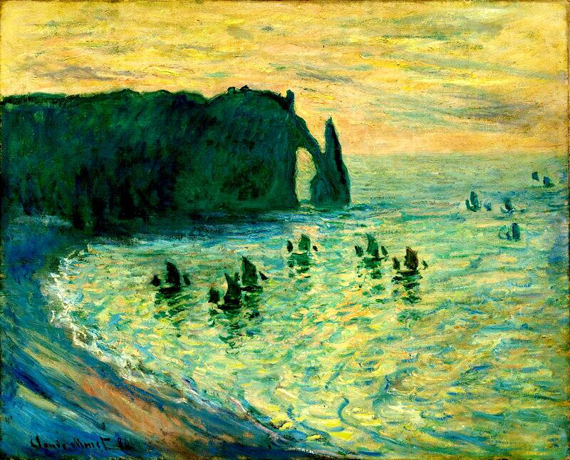 The Cliffs at Etretat - Claude Monet