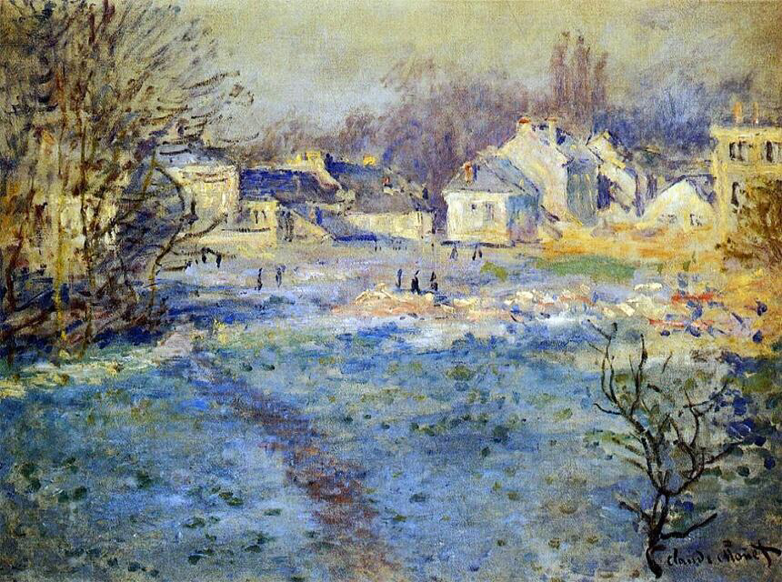 White Frost - Claude Monet