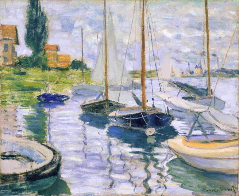 Boats At Rest, At Petit-Gennevilliers - Claude Monet