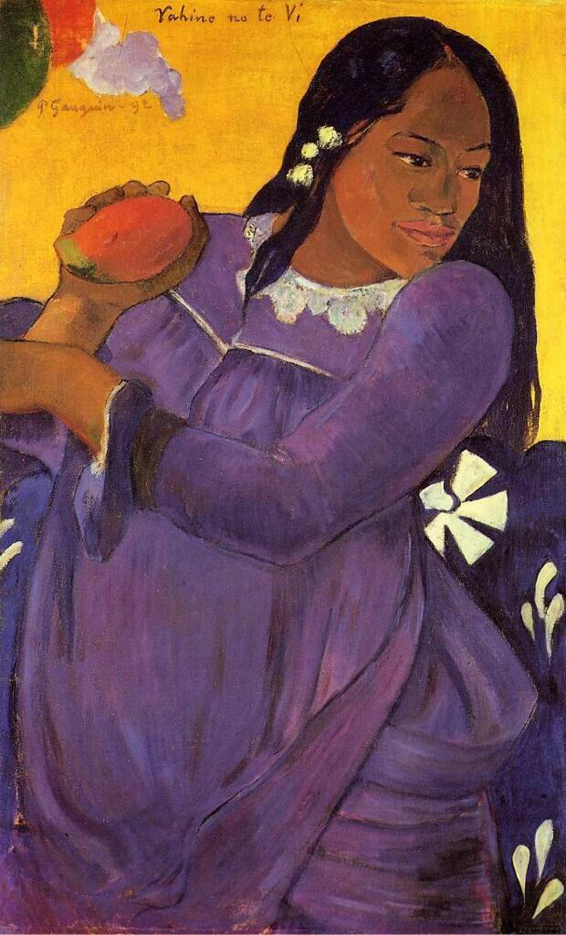 Woman With A Mango - Paul Gauguin