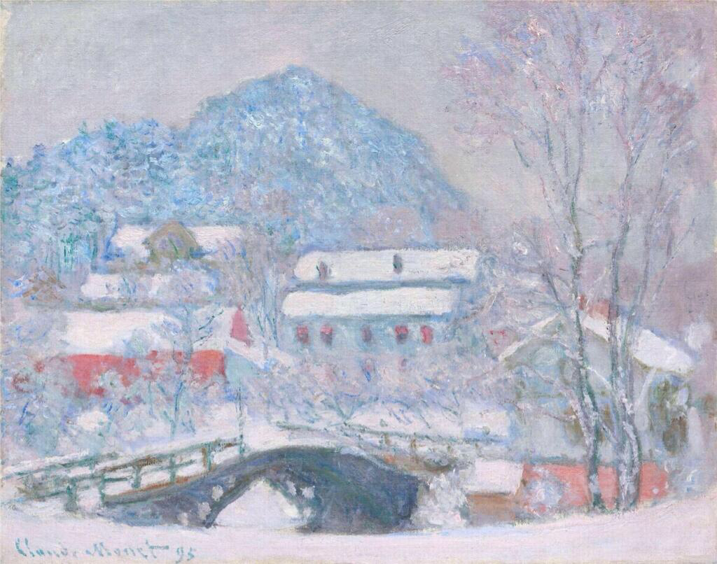 Norway, Sandviken Village in the Snow - Claude Monet