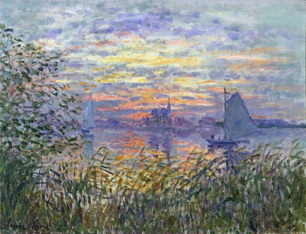 Sunset on the Siene - Claude Monet