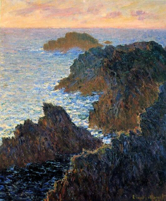 Rocks at Belle-Isle, Port-Domois - Claude Monet