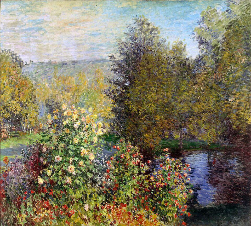 A Corner Of The Garden At Montgeron - Claude Monet