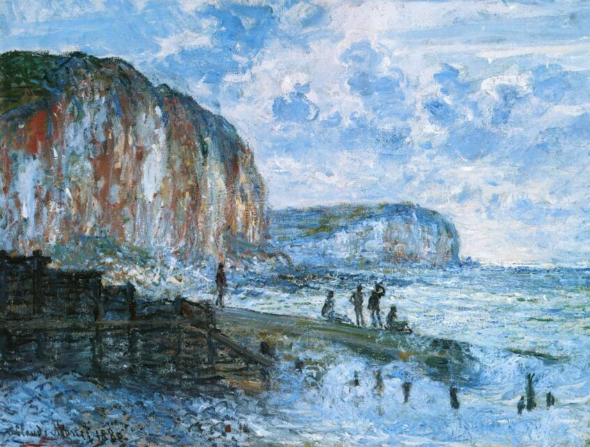 Cliffs of the Petites Dalles - Claude Monet