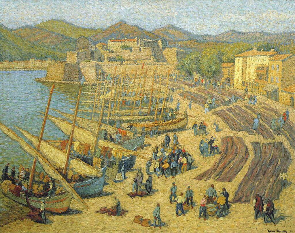 Fishing Boats at Collioure - Henri Martin