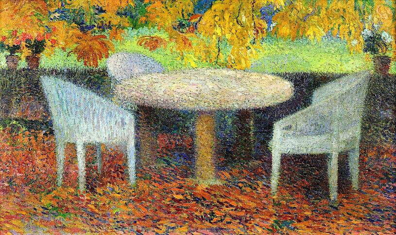 The Large Stone Table Under The Chestnut Street At Marquayrol - Henri Martin