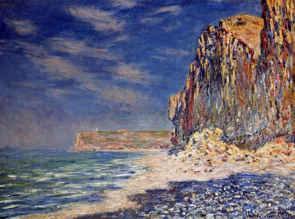 Cliff Near Fecamp - Claude Monet
