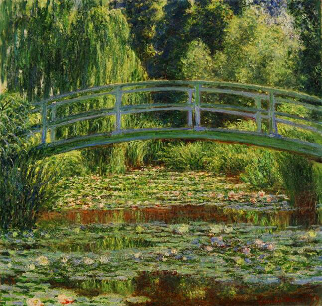 The Japanese Footbridge & the Water Lily Pool - Claude Monet