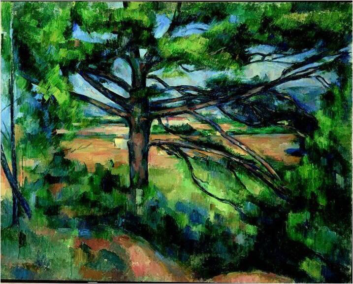 Large Pine And Red Earth - Paul Cézanne