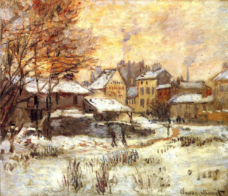 Snow Effect with Setting Sun - Claude Monet