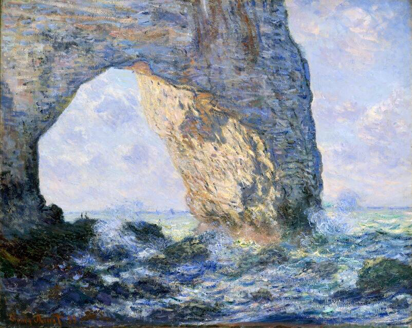 The Manneporte' (Étretat) - Claude Monet