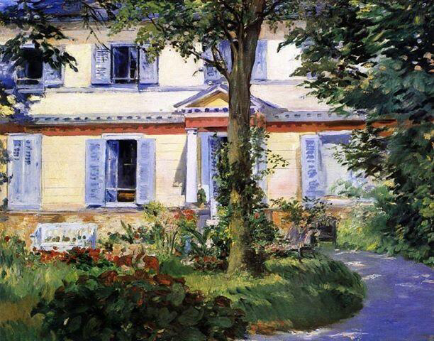 Via Folle Mente The House at Rueil - Edouard Manet