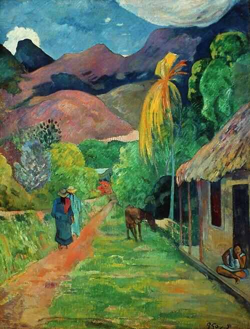 Road in Tahiti - Paul Gauguin