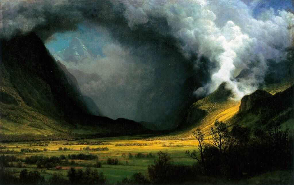 Storm in the Mountains - Albert Bierstadt
