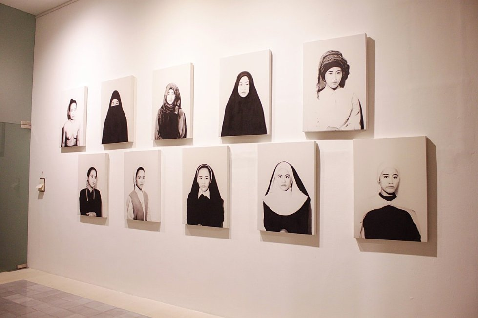 Heavenly Identity by Ahdiyat Nur Hartarta - Display system - charcoal, exhibition, drawing